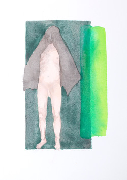 Composition in Green with Nude