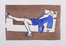 Resting in Brown and Ultramarine