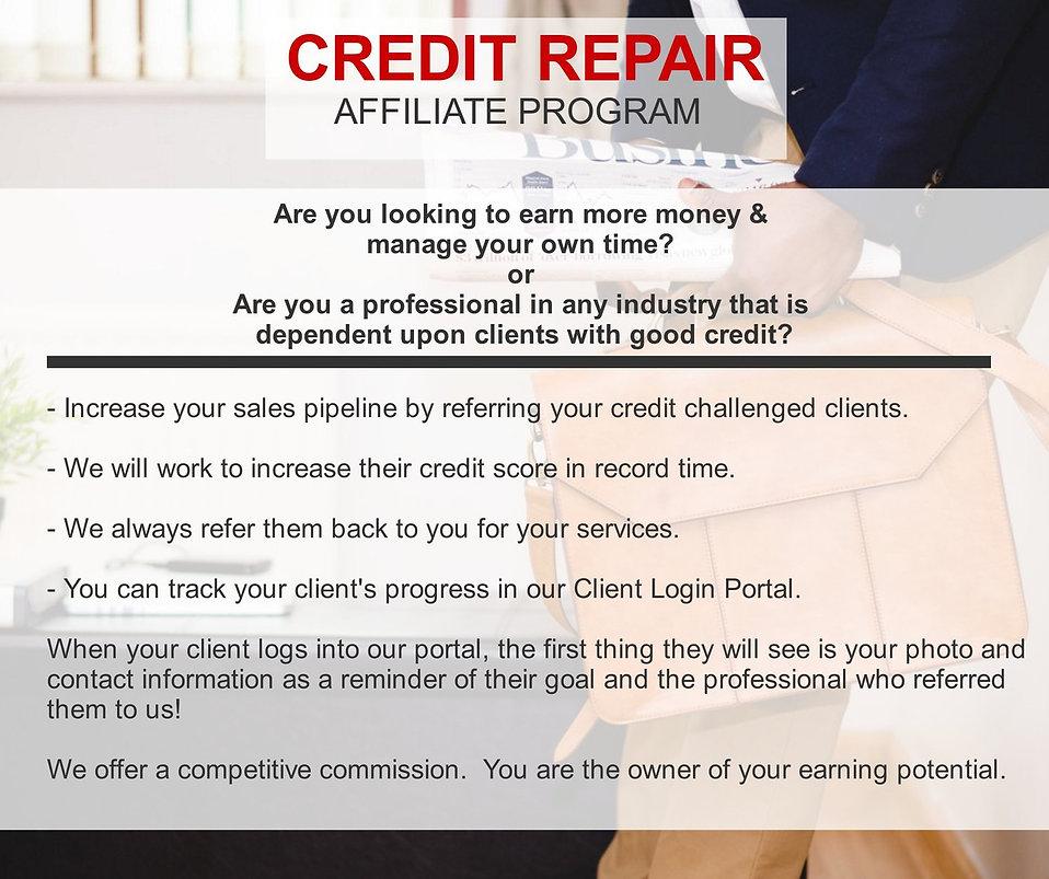 Credit Repair Affiliate Program