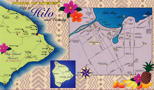 Hilo and Big Island map