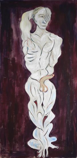 Putin _ Acryl on Canvas _ 195cm x 96cm _