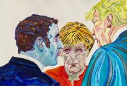 Angela Merkel/ Donald Trump/ Emmanuel Macron (2020)