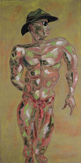 Putin _ Acryl on Canvas _ 195cm x 98cm _