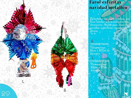 Papel Picado- Farol Esferitas Navidad Metálico