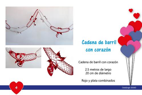 Papel Picado - Cadena De Barril Con Corazón