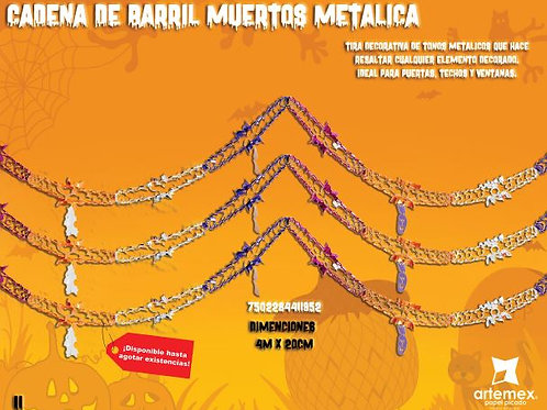 Cadena De Barril Muertos Metalica