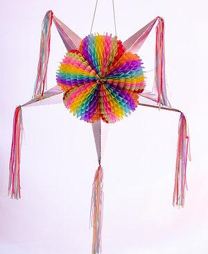 Papel Picado - Piñata Estrella Grande Colores