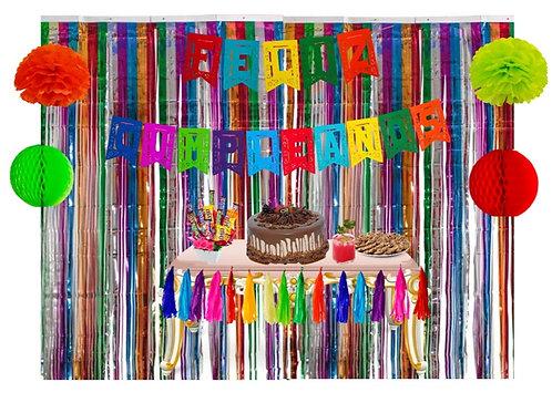 Papel Picado - Kit Decoración Cumpleaños