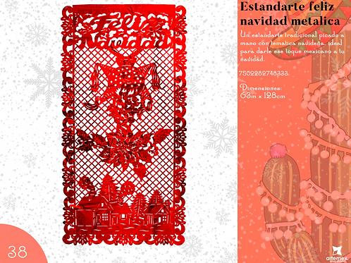 Papel Picado - Estandarte Feliz Navidad