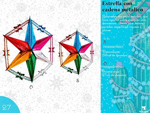 Papel Picado - Estrella Con Cadena Metálica