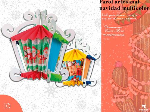 Papel Picado - Farol Artesanal Multicolor