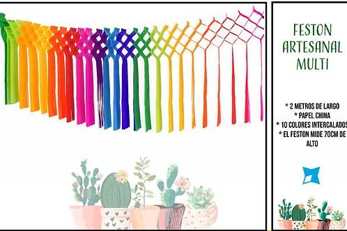 Papel Picado - Festón Artesanal Multicolor
