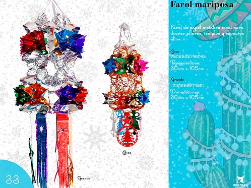 Papel Picado - Farol Mariposa