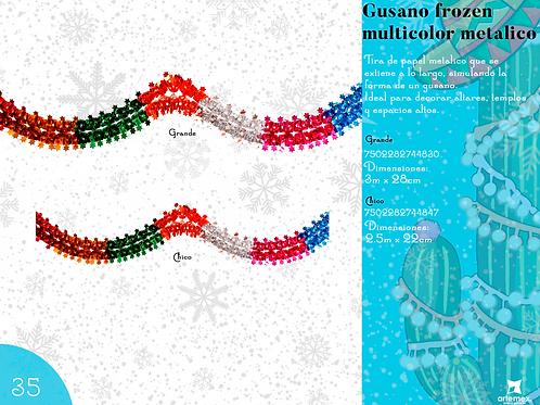 Papel Picado - Gusano Multicolor Metálico