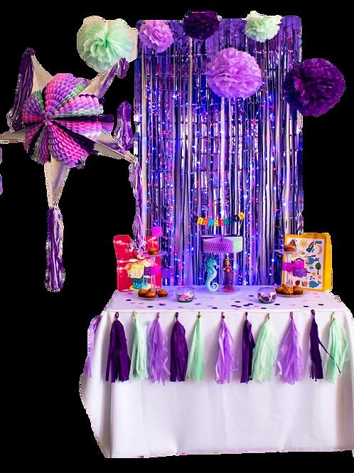 Papel Picado - Kit Decoración Sirenita