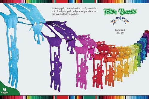 Festón Burrito Multicolor Papel