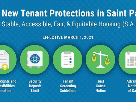 New Tenant Protections Start Today!