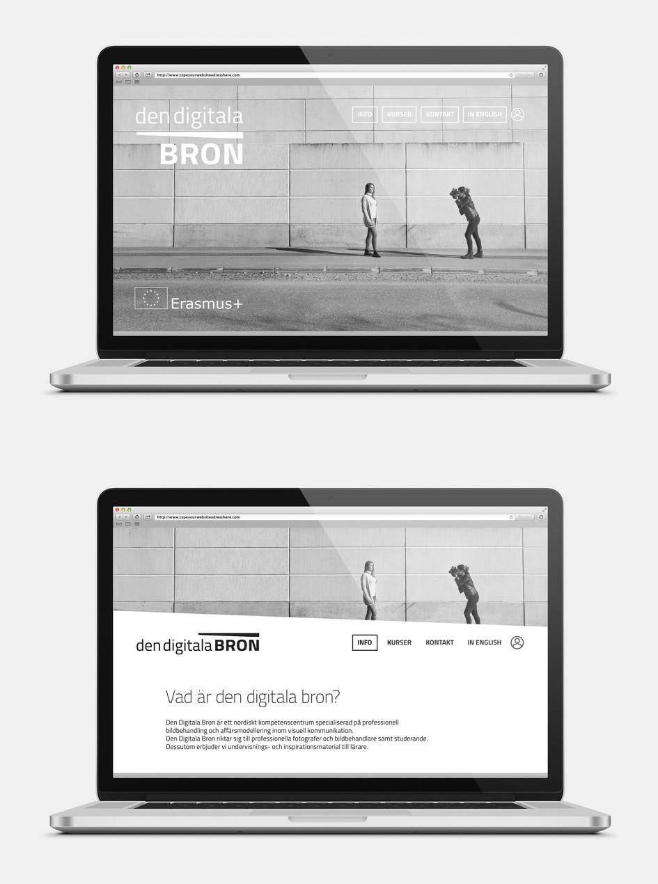 Website for den digitala bron