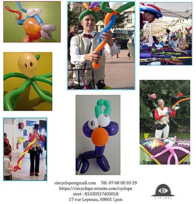 Sculpture sur ballons, échasses, maquillage, Rhône-Alpe, Lyon, animations enfants
