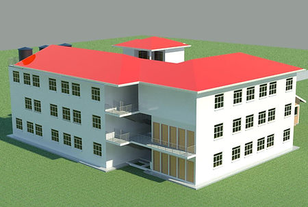 front view school architect design