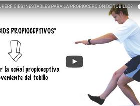 Vídeo propiocepción de tobillo