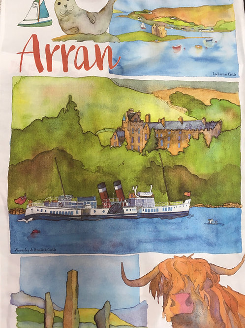 Multibuy: Emma Ball Arran Tea Towel x2