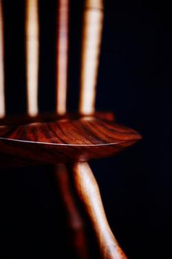 Fanback Seat - ball walnut detail