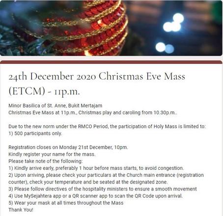24th December 2020 Christmas Eve Mass