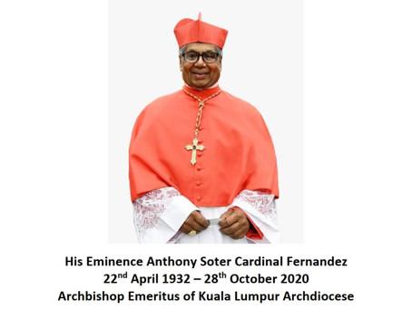 His Eminence Anthony Soter Cardinal Fernandez22nd April 1932 – 28th October 2020