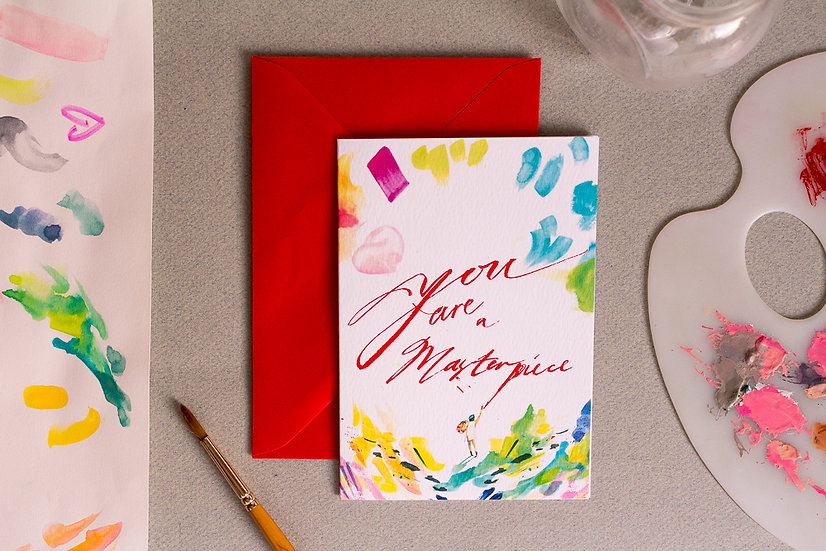 You're a Masterpiece - A6 Greetings Card