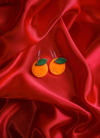Mandarin Hoop Earrings