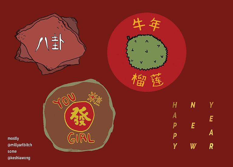 Lunar New Year Sticker Sheet