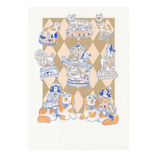 A3 Figurine Riso Print