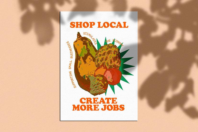 Shop Local Poster A3
