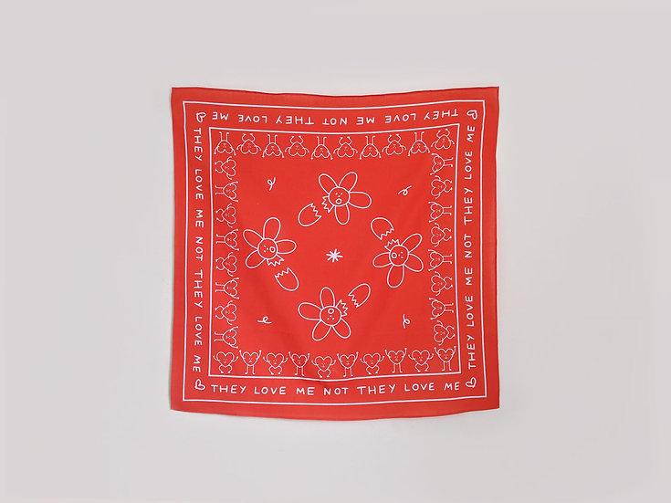 Love Me Not Daisy Handkerchief
