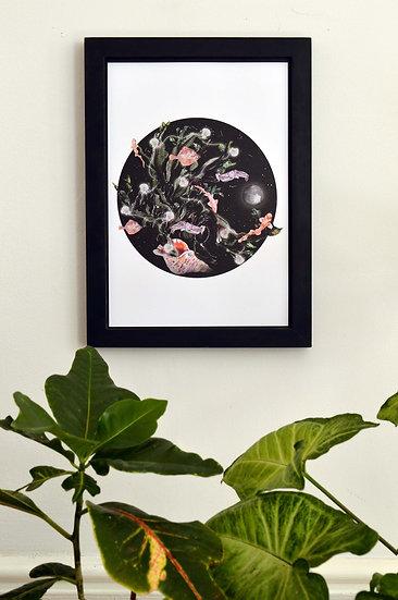 Noir Seaweed Tree Print