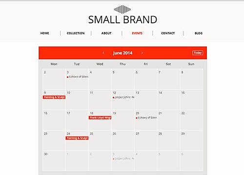 Events Calendar Overview | WIX App Market | Wix com