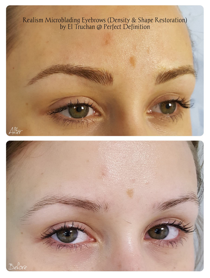 Realism Microblading Eyebrows (Density & Shape Restoration) by El Truchan @ Perfect Definition