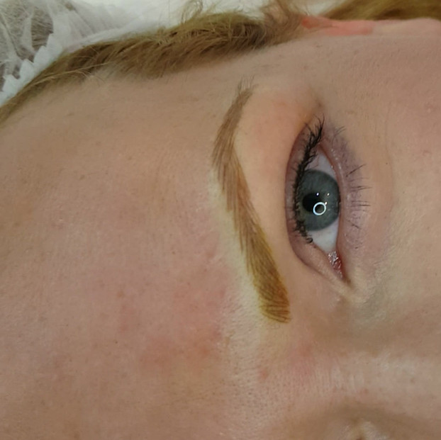 Strawberry Blonde Eyebrows Microblading