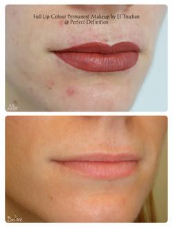 Full Lip Colour Permanent Makeup by El T