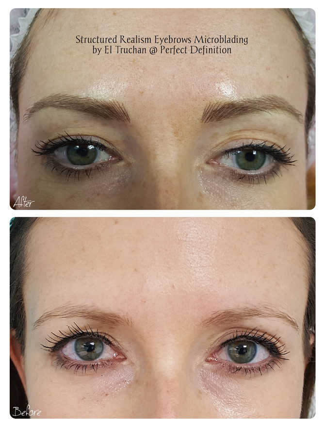 Structured Realism Eyebrows Microblading by El Truchan @ Perfect Definition
