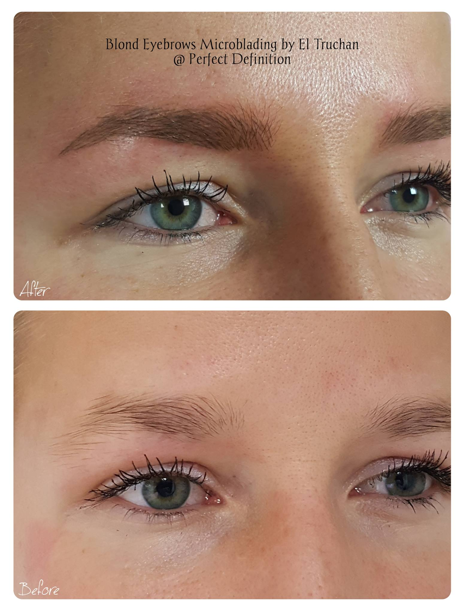 Blonde Eyebrows Microblading by El Truchanjpg