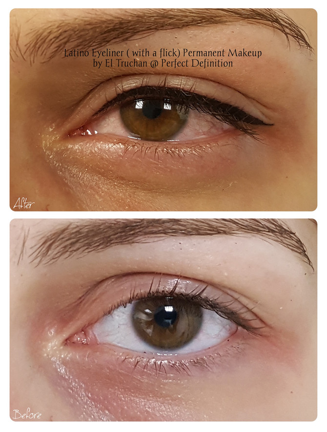 Latino Eyeliner (with a flick) Permanent Makeup by El Truchan @ Perfect Definition