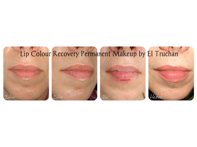 Lip Colour / PigmentRecovery - Semi Permanent Makeup Before - After - Healed