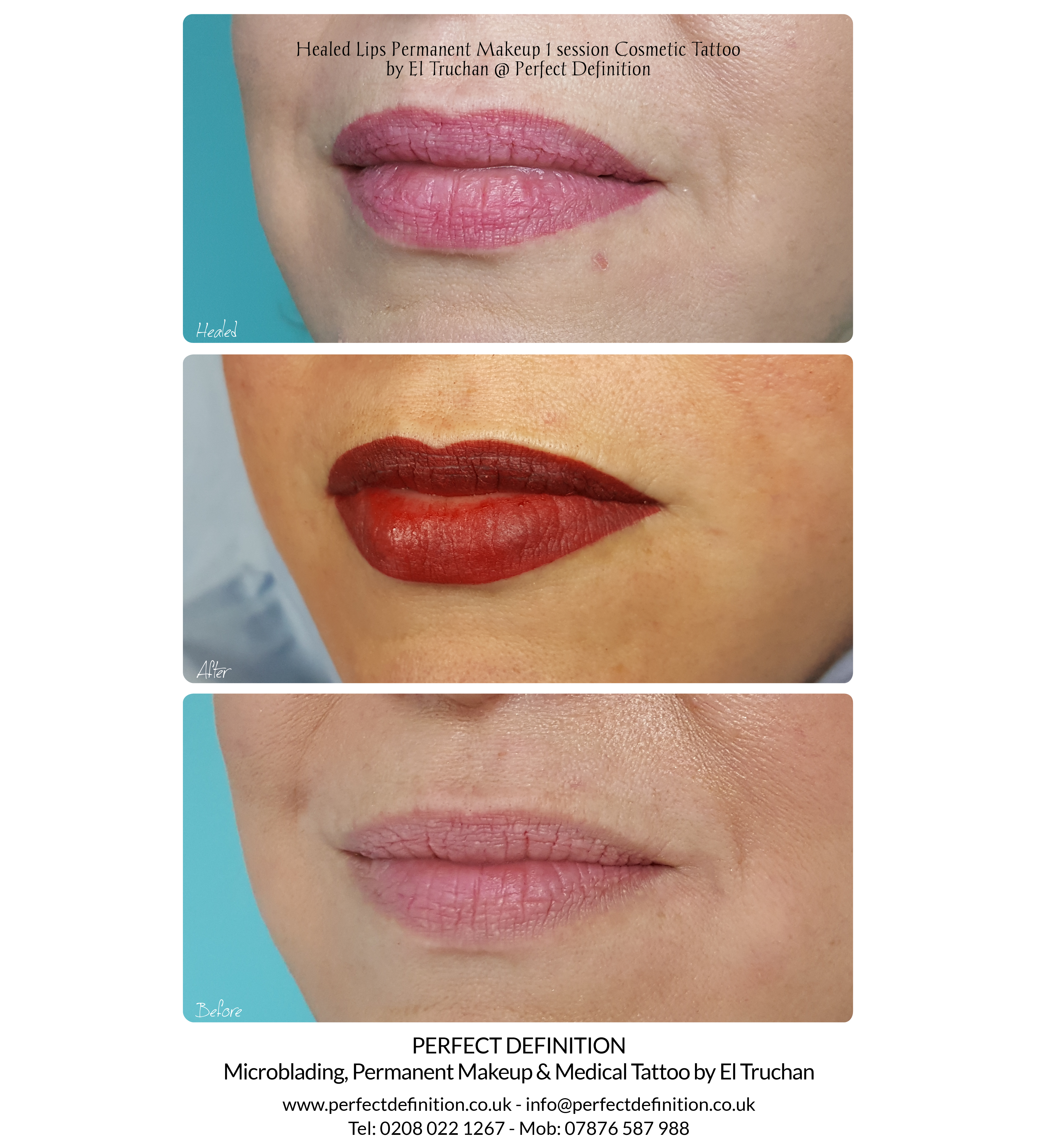 Healed Lips Permanent Makeup Cosmetic Ta