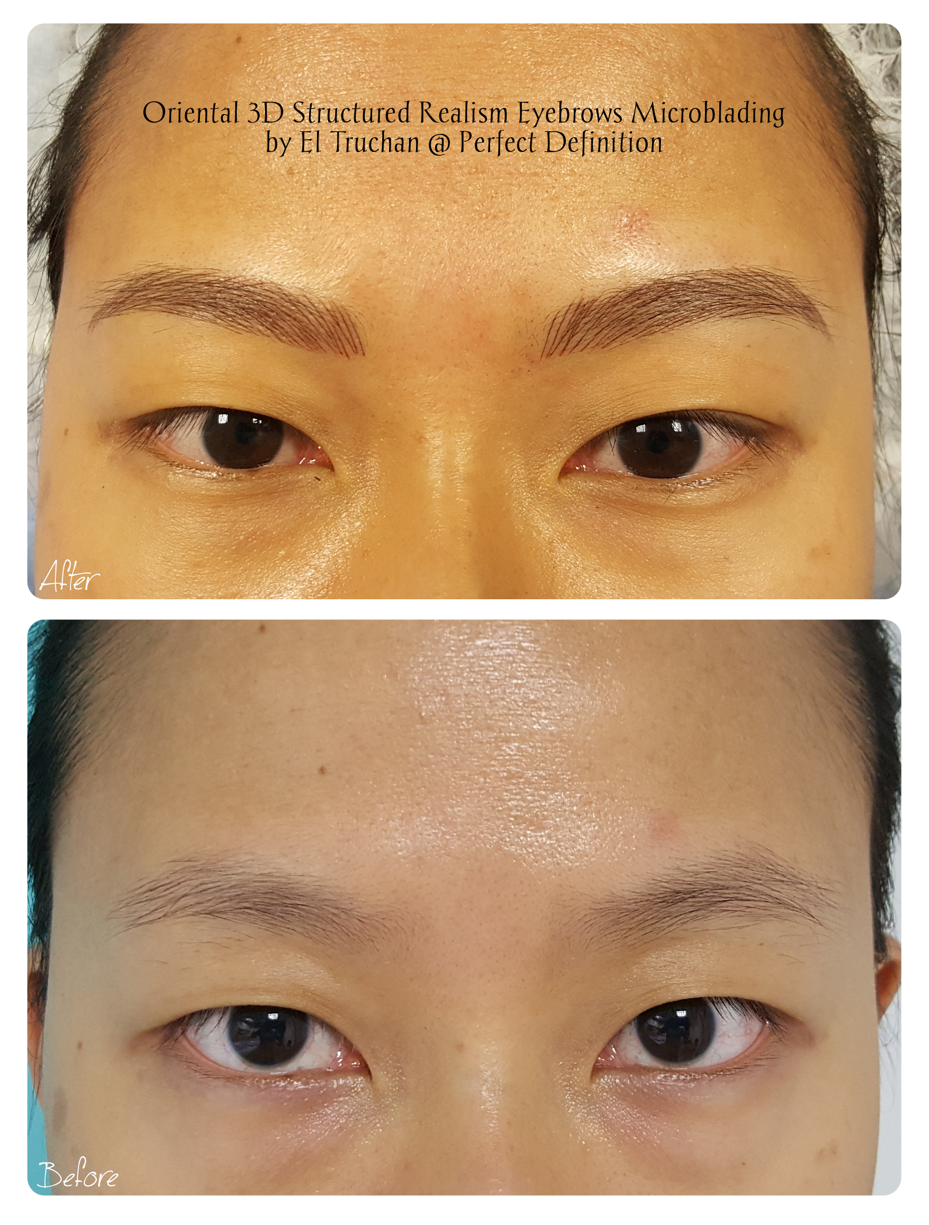 Oriental 3D Structured Realism Eyebrows