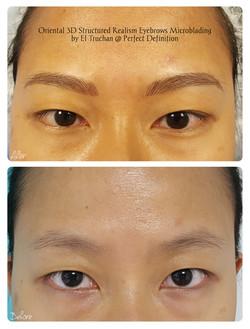 Oriental 3D Structured Realism Eyebrows