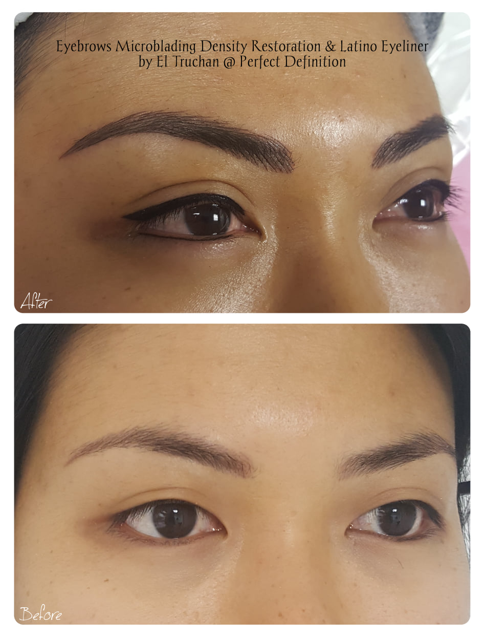 Eyebrows Microblading Density Restoratio
