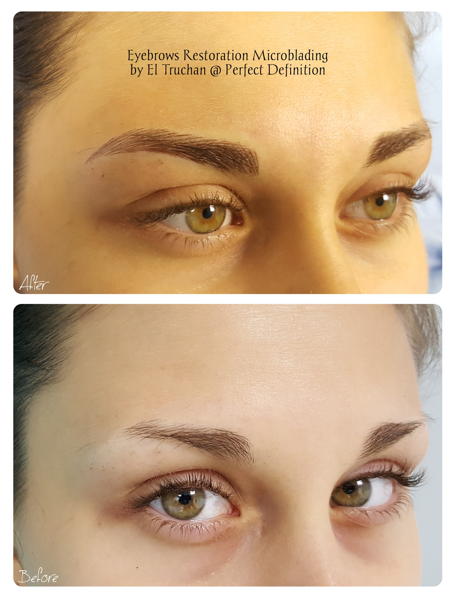 Eyebrows Restoration Microblading by El