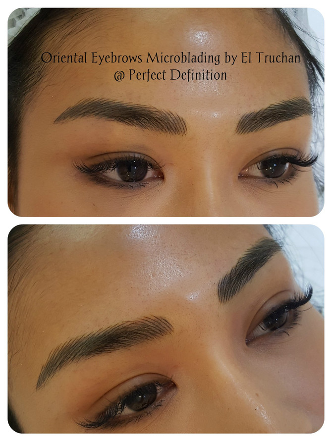 Oriental Eyebrows microblading by El Truchan in London @ Perfect Definition